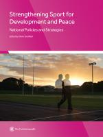 Strengthening Sport for Development and Peace: National Policies and Strategies (pdf)