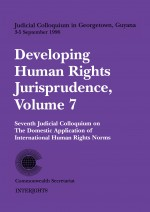 Developing Human Rights Jurisprudence, Volume 7