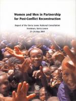 Women and Men in Partnership for Post-Conflict Reconstruction